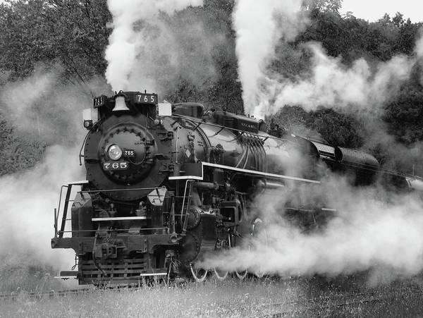 Railroad Bridge Photograph - Steam Engine by Ann Bridges