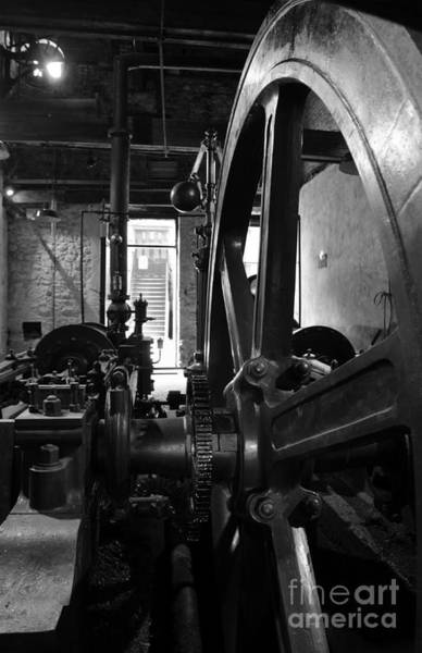 Photograph - Steam Engine Flywheel At Lockes Distillery Bw  by RicardMN Photography