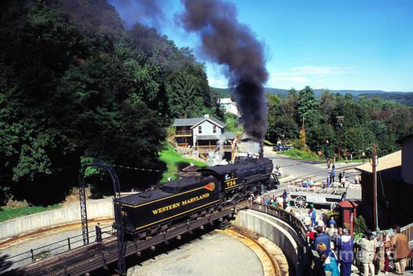 Photograph - Steam Engine On Turnstile by Thomas R Fletcher