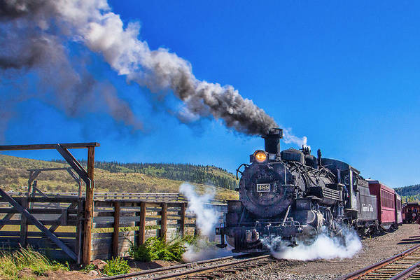 Chama Photograph - Steam Engine Relic by Steven Bateson