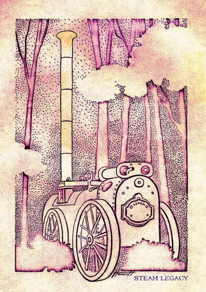 Farm Equipment Drawing - Steam Legacy by Patricia Howitt