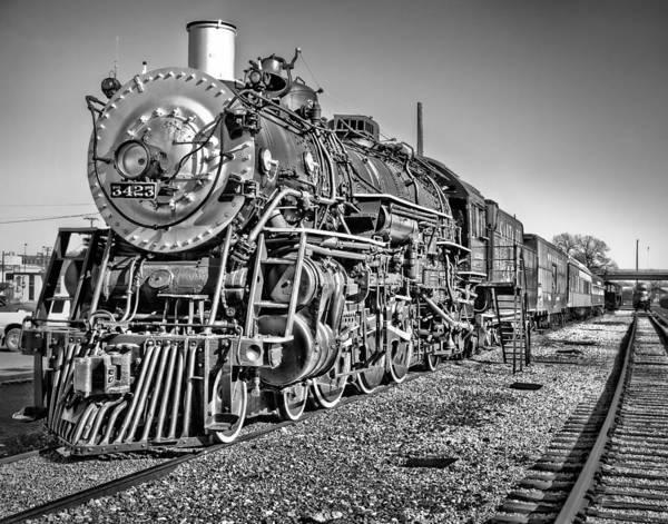 Depot Photograph - Steam Locomotive 3423 by David and Carol Kelly