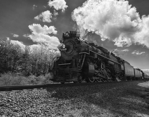 Photograph - Steam Locomotive Passing Through by Richard Kopchock