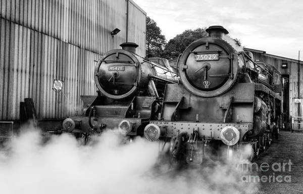 Loco Wall Art - Photograph - Steam Loco's Sir Eric Treacy And The Green Knight  by Janet Burdon