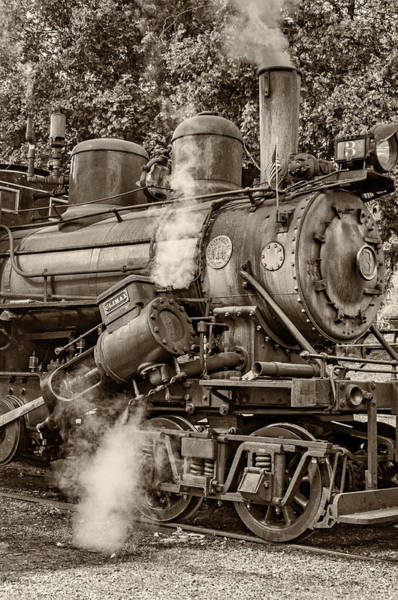 Steve Harrington Wall Art - Photograph - Steam Power Sepia by Steve Harrington