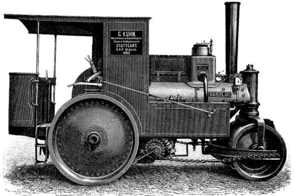 Roller Photograph - Steam Road Roller by Bildagentur-online/tschanz