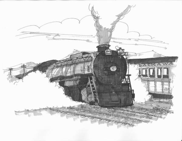 Steam Town Scranton Locomotive Art Print