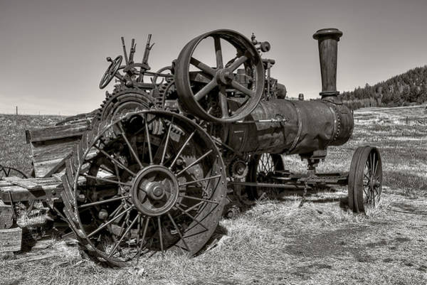 Horsepower Photograph - Steam Tractor - Molson Ghost Town by Daniel Hagerman