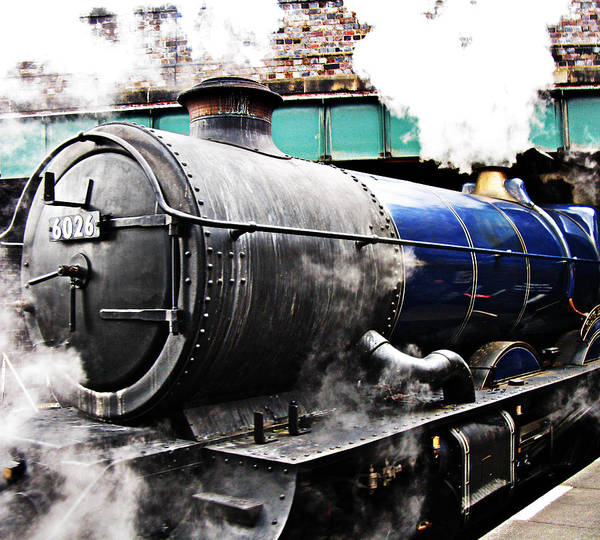 Vintage Conway Photograph - Steam Train Under The Railway Bridge by Tom Conway