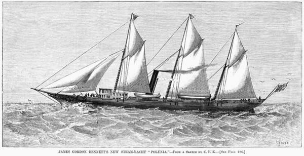 Wall Art - Painting - Steam-yacht, 1880 by Granger