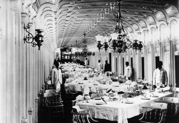 Photograph - Steamboat Interior, C1890 by Granger
