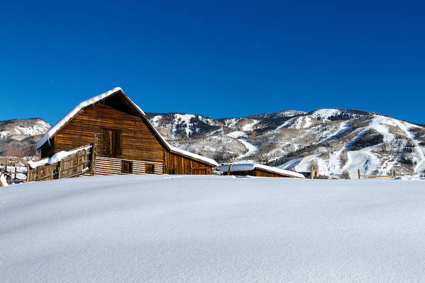 Photograph - Steamboat Springs Barn by Teri Virbickis