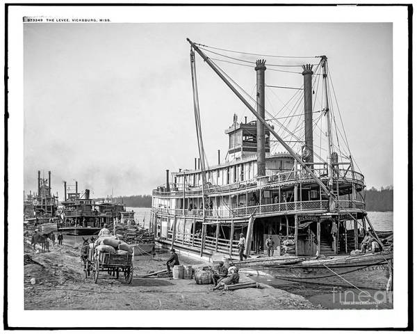Photograph - Steamboat Vicksburg by Russell Brown