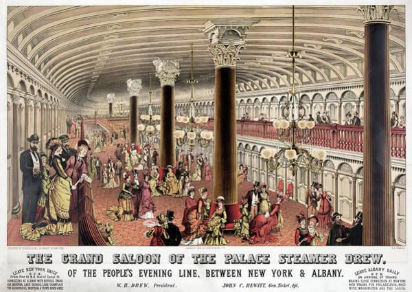 Ballroom Painting - Steamer Ship Ballroom by Granger