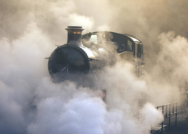 Photograph - Steaming At Dawn No1 by Tony Mills