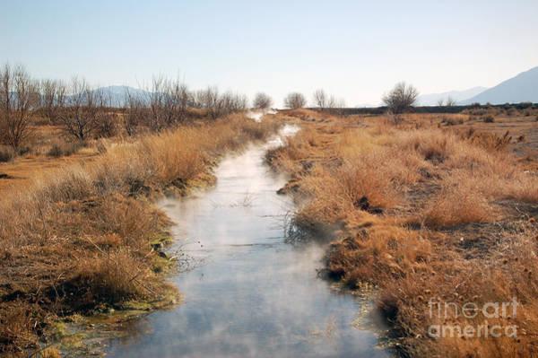 Photograph - Steaming Creek In Northern Nevada Desert by Gunter Nezhoda