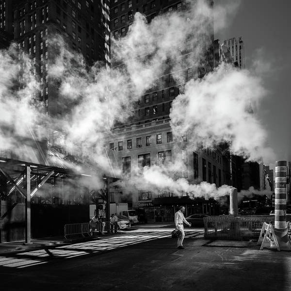 Pavement Wall Art - Photograph - Steaming by Eduardo Marques