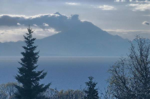 Mount Redoubt Photograph - Steaming Mount Redoubt - Alaska by Dyle   Warren