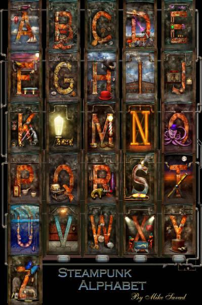 Photograph - Steampunk - Alphabet - Complete Alphabet by Mike Savad