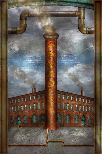 Photograph - Steampunk - Alphabet - I Is For Industry by Mike Savad