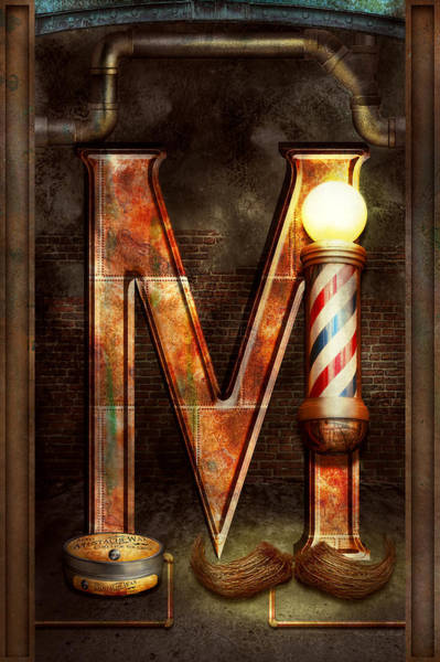 Photograph - Steampunk - Alphabet - M Is For Mustache by Mike Savad
