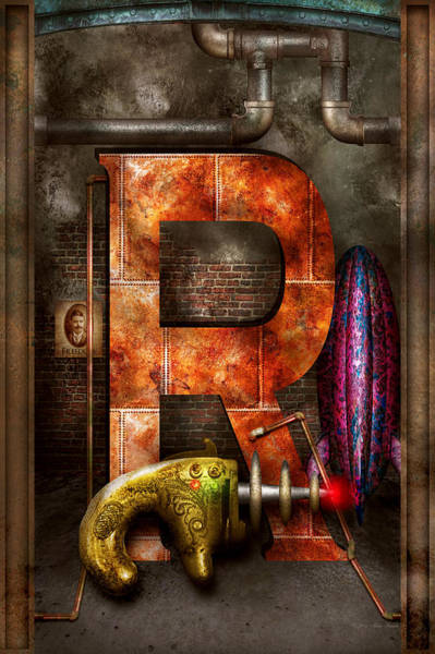Photograph - Steampunk - Alphabet - R Is For Ray Gun by Mike Savad