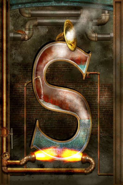 Photograph - Steampunk - Alphabet - S Is For Steam by Mike Savad