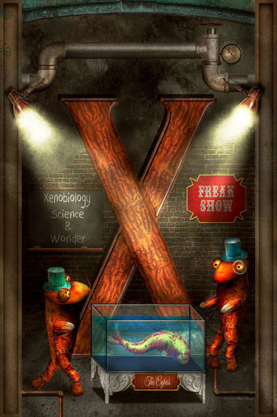 Photograph - Steampunk - Alphabet - X Is For Xenobiology by Mike Savad
