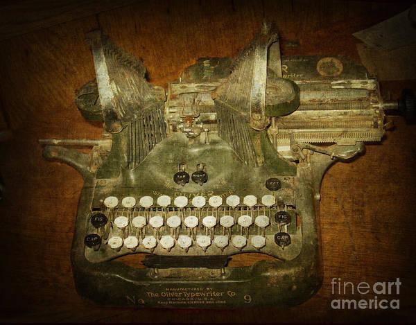 Typewriters Wall Art - Photograph - Steampunk Antique Typewriter Oliver Company by Svetlana Novikova