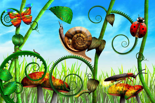 Gastropod Wall Art - Photograph - Steampunk - Bugs - Evolution Take Time by Mike Savad