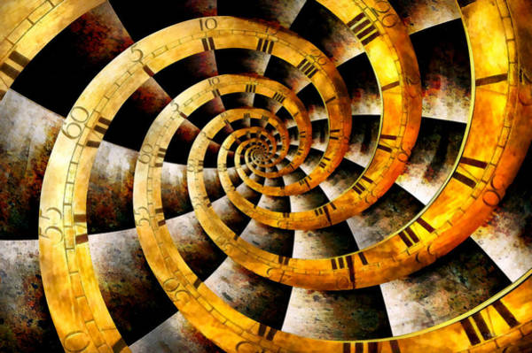 Wall Art - Photograph - Steampunk - Clock - The Flow Of Time by Mike Savad