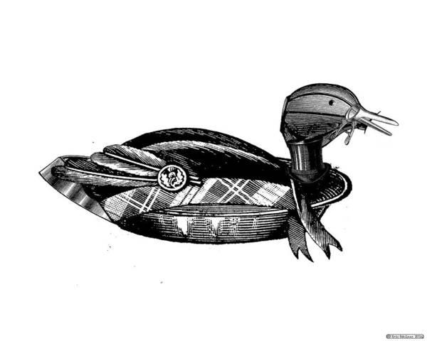 Digital Art - Steampunk Duck by Eric Edelman