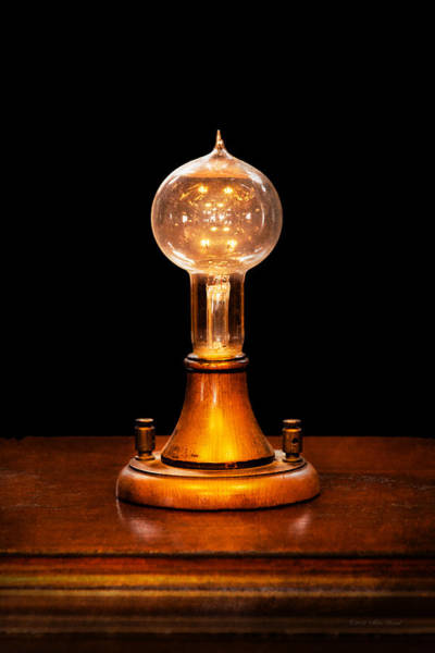 Photograph - Steampunk - Electricity - Bright Ideas  by Mike Savad
