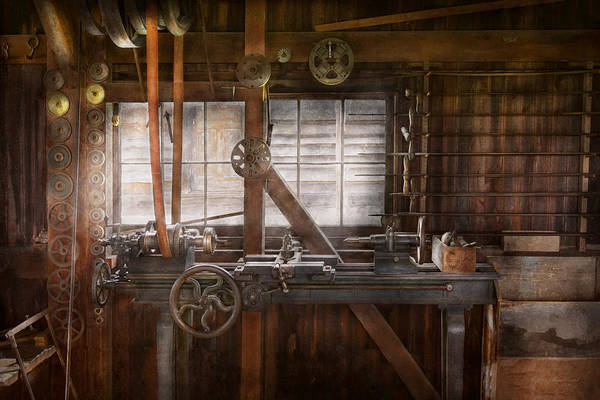 Photograph - Steampunk - Machinist - My Tinkering Workshop  by Mike Savad