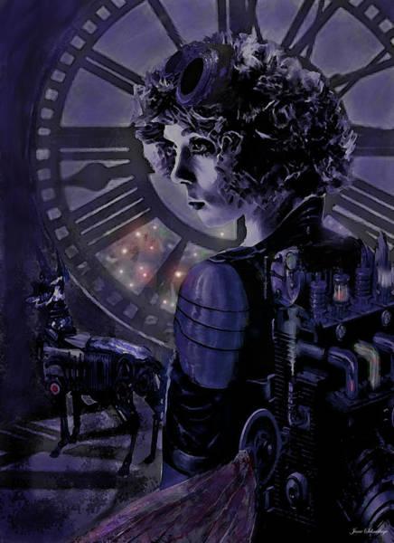 Wall Art - Digital Art - Steampunk Midnight by Jane Schnetlage