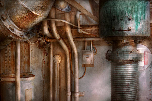 Photograph - Steampunk - Plumbing - Industrial Abstract  by Mike Savad
