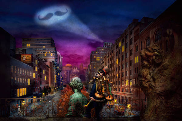 Photograph - Steampunk - The Great Mustachio by Mike Savad