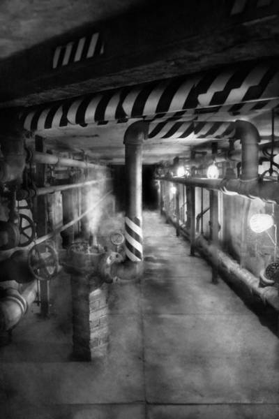 Photograph - Steampunk - The Steam Tunnel by Mike Savad