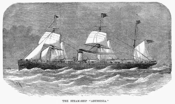 Painting - Steamship Abyssinia by Granger