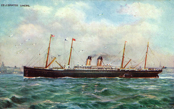Early 20th Century Drawing - Steamship Celtic, Depicted Arriving by Mary Evans Picture Library