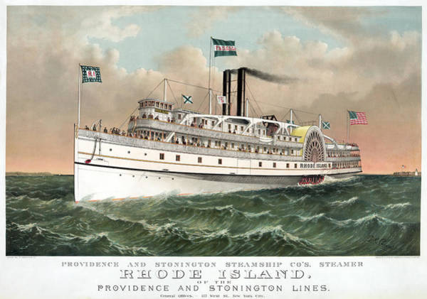 Wall Art - Painting - Steamship Rhode Island, C1882 by Granger