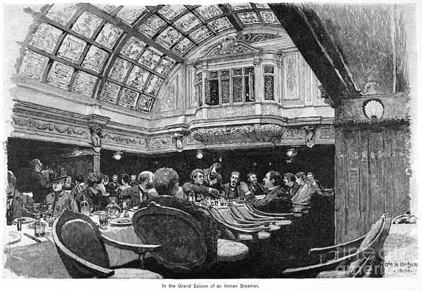 Photograph - Steamship: Saloon, 1890 by Granger