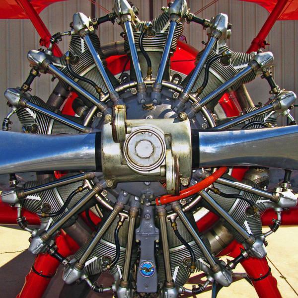 Radial Engine Photograph - Stearman Engine by Dale Jackson