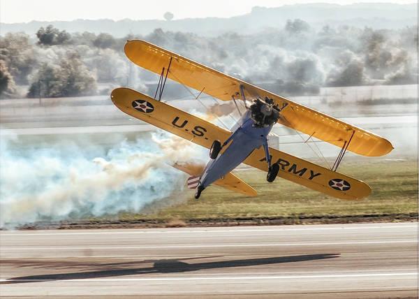 Aerobatics Wall Art - Photograph - Stearman Model 75 Biplane by Alan Toepfer