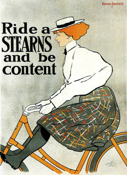 Photograph - Stearns Bicycle 1896 by Edward Penfield