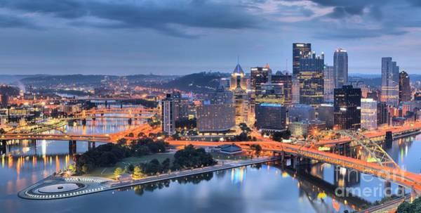 Photograph - Steel City Panorama by Adam Jewell