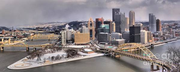 Photograph - Steel City Storm Clouds by Adam Jewell
