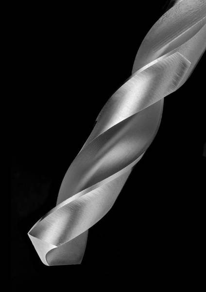 Drill Bits Wall Art - Photograph - Steel Drill Bit by Jim Hughes