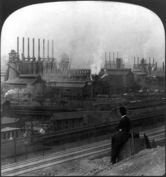 Photograph - Steel Factory, C1907 by Granger