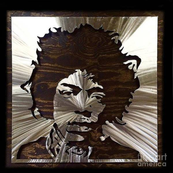 Mixed Media - Steel Hendrix by CK Mackie